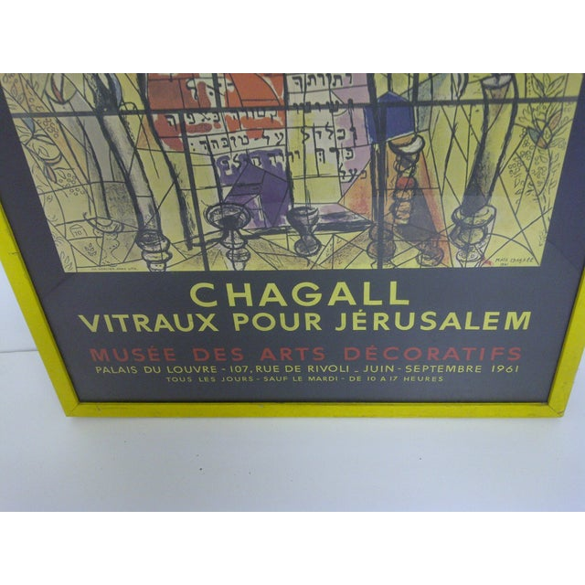 Chagall Print, Vitraux Pour Jerusalem For Sale - Image 4 of 6