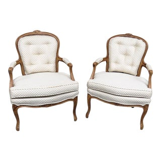 Late 20th Century Kaylyn Louis XVI Style Armchairs- A Pair For Sale