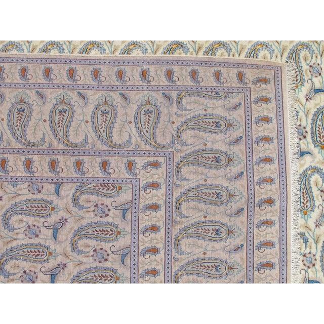 Boteh Jegheh Design Persian Kashan Rug - 10′ × 12′7″ For Sale - Image 5 of 6
