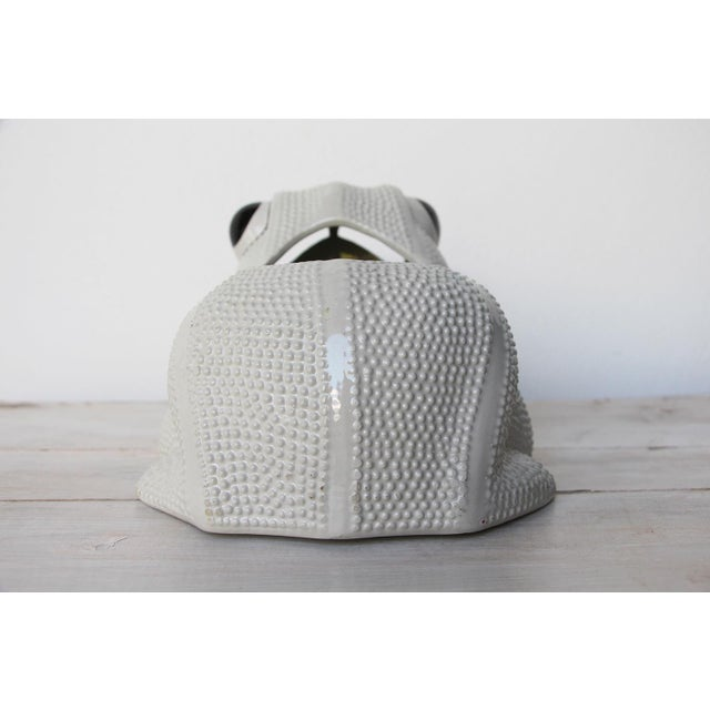 1970s Large Vintage Hobnail Frog Planter in the Style of Jean Roger For Sale - Image 6 of 13