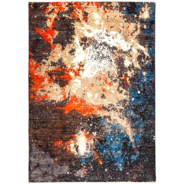 """Eclectic Hand Knotted Area Rug - 6' 4"""" X 8' 10"""" - Image 4 of 4"""