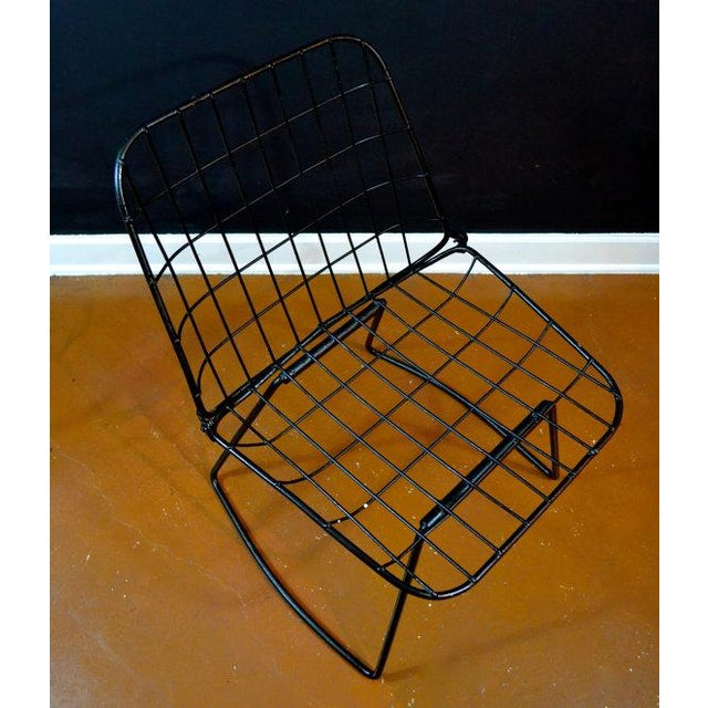 Vintage Danish Modern Wire Side Chair - Image 8 of 10