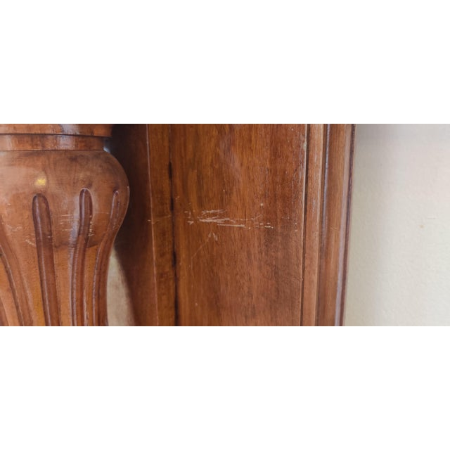 Wood Victorian Walnut Classical Revival Fireplace Mantel For Sale - Image 7 of 8