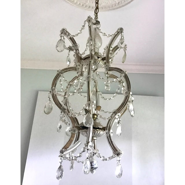 1950s Maria Theresa Crystal Chandelier Made in Italy For Sale - Image 5 of 8