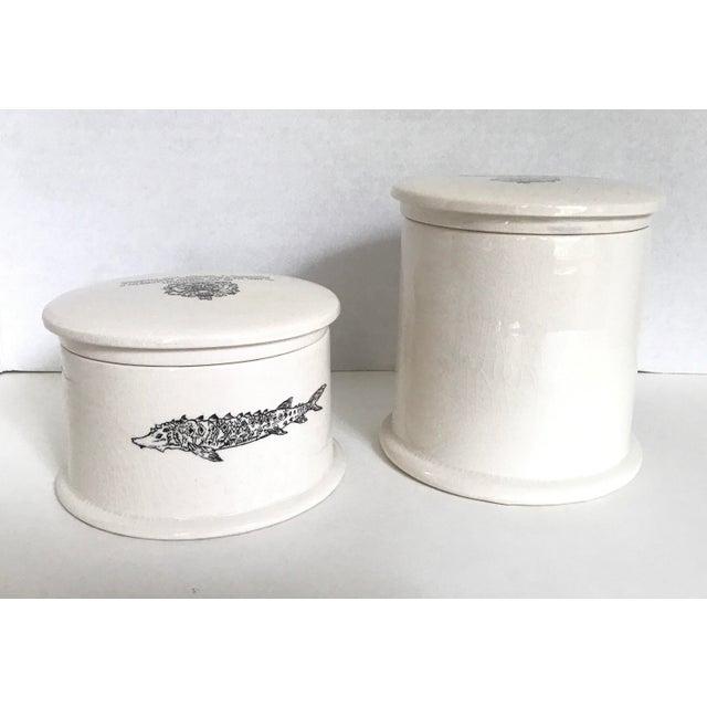 Vintage Fortnum & Mason Lidded Jars - A Pair For Sale - Image 4 of 6
