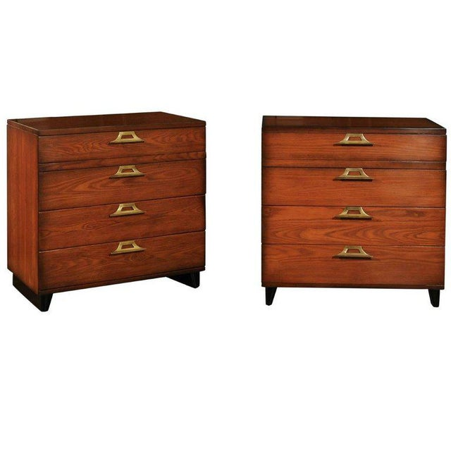 Rare Restored Pair of Commodes by John Wisner for Ficks Reed, Circa 1954 For Sale - Image 11 of 11