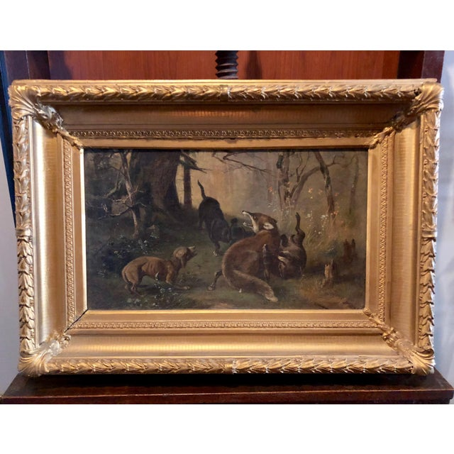 Late 19th Century Antique Karl (Carl) Reichert Victorian Oil Painting For Sale - Image 13 of 13