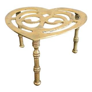 Brass Heart Trivet For Sale