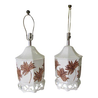 Pagoda Palm Frond Lamps For Sale