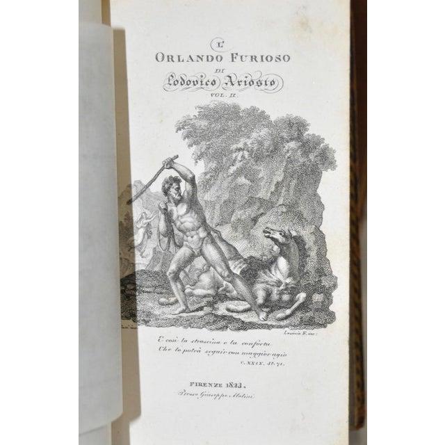 """Circa 1823 Ludovico Ariosto """"L' Orlando Furioso"""" Vol 1 & 2 For Sale In San Francisco - Image 6 of 6"""