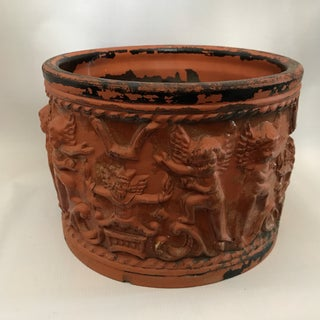 Terracotta Figural Relief Pot Preview