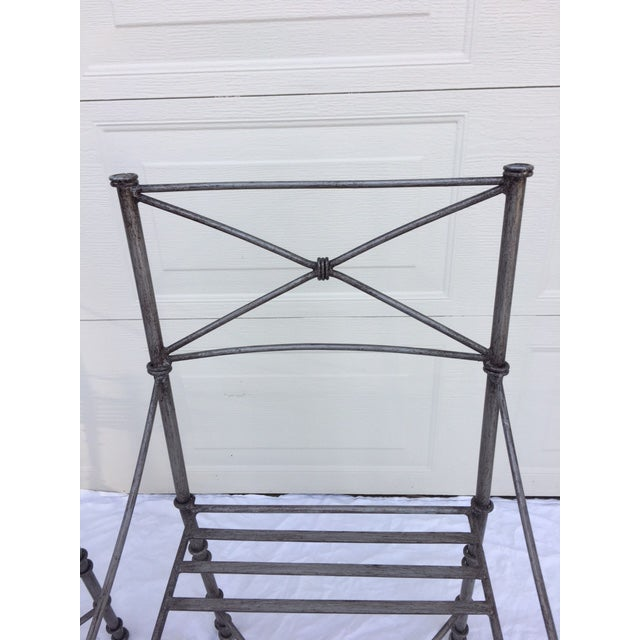 Neoclassical Iron Table & Chairs For Sale - Image 10 of 11