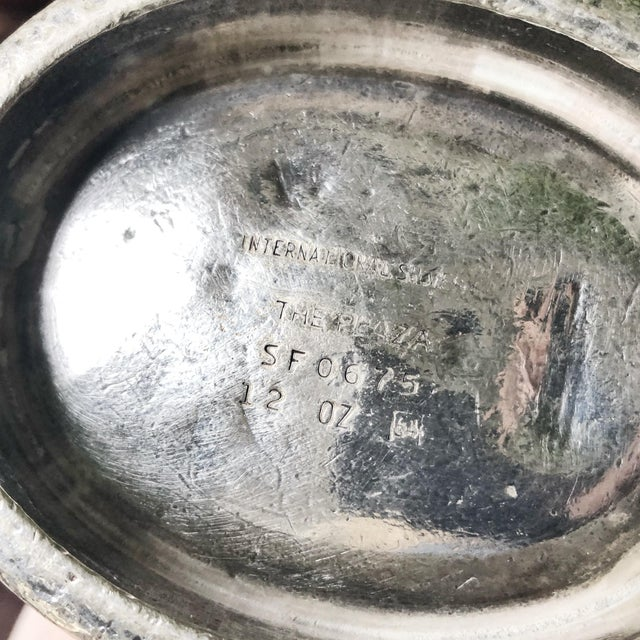 Vintage 1960s Silver Plate Gravy Boat From the Plaza NYC For Sale In New York - Image 6 of 7