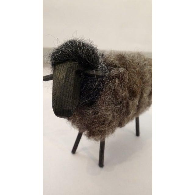 Fuzzy Wool Sheep Figure - Image 4 of 6