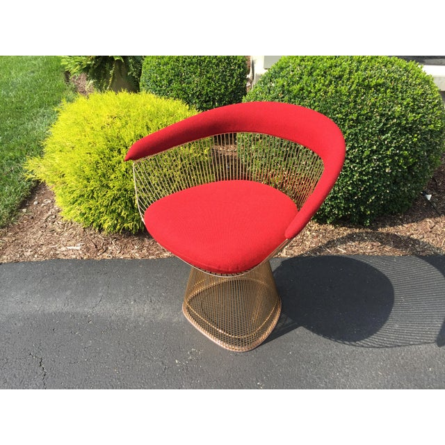 Warren Platner 18k Gold-Plated 50th Anniversary Edition Armchair - Image 2 of 3