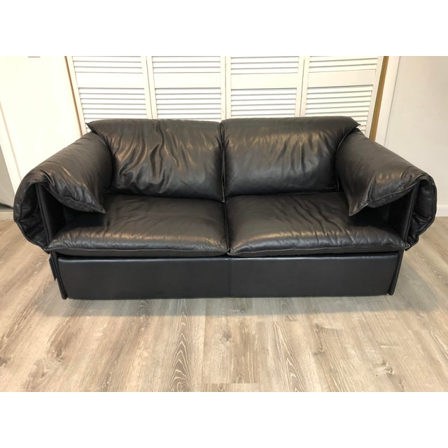 Vintage Niels Eilersen Leather Convertible Couch Sofa For Sale - Image 13 of 13
