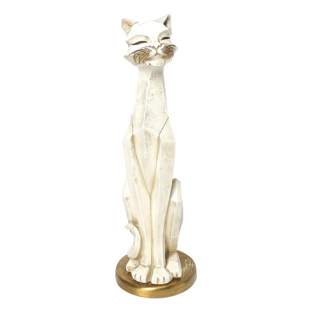 1960's Cat Figurine by Universal Statuary Corp. For Sale