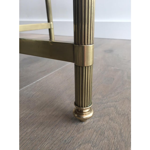 Neoclassical Brass Coffee Table by Maison Jansen - Image 6 of 11
