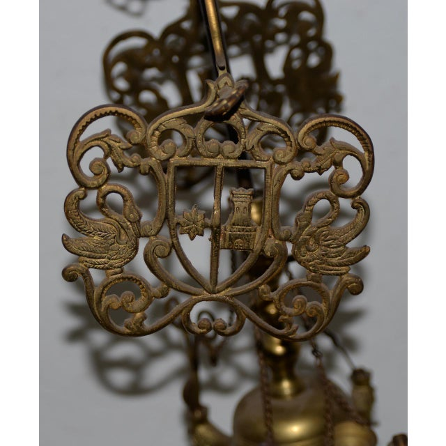 Metal 19th C. Middle East Brass Oil Lamp For Sale - Image 7 of 8