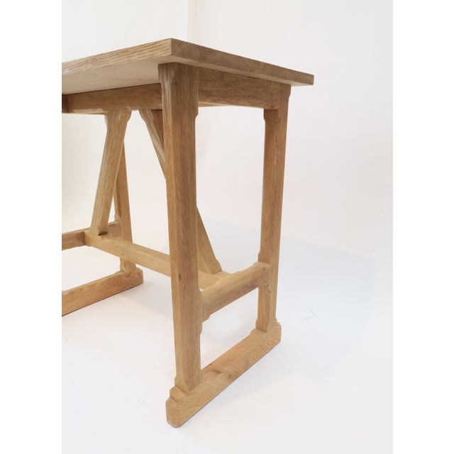 Martin & Brockett Short Trestle Wood Table - Image 5 of 7