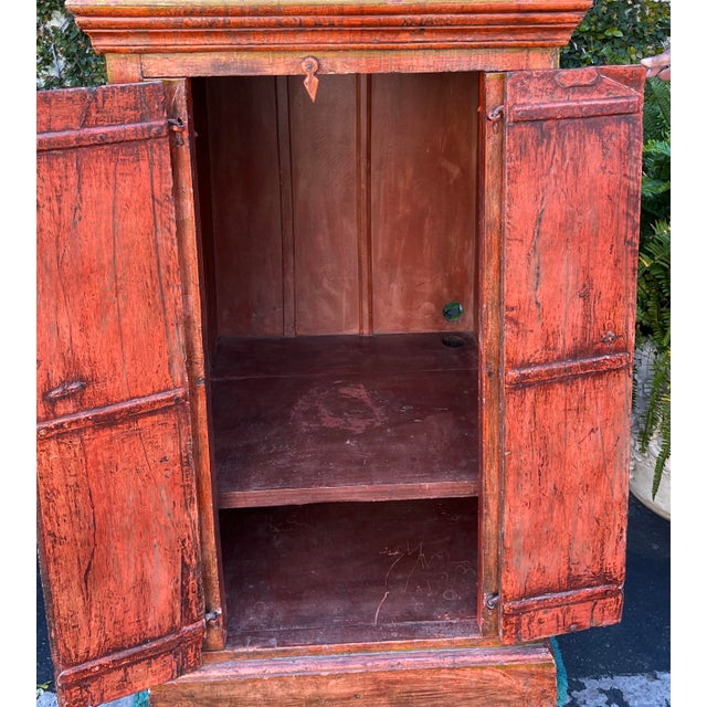 Equator Furniture Company 18th C Spanish Colonial Cabinet Mini Armoire For Sale - Image 4 of 8