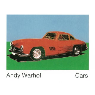 300 Sl Coupe (1954) Pop Art Poster by Andy Warhol For Sale