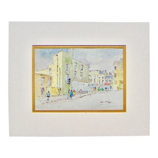 Hugh McKenzie London Street Scene Print For Sale