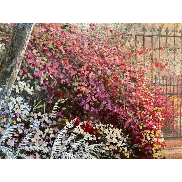 Textile Juan Archuleta Gates and Garden Painting For Sale - Image 7 of 13