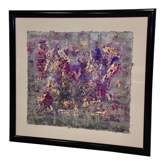 Purple Abstract Modern Art For Sale