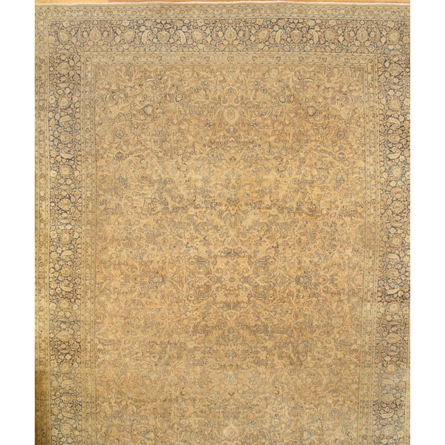 Islamic Pasargad N Y Genuine Antique Persian Mashhad Rug - 13′7″ × 18′9″ For Sale - Image 3 of 3