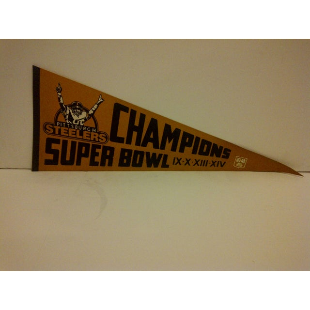 1980 Vintage NFL Pittsburgh Steelers Super Bowl Champions Team Pennant - Image 2 of 5