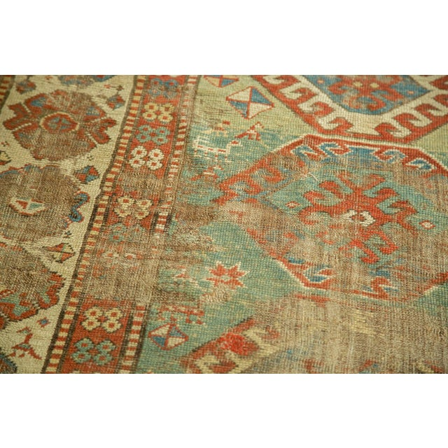 "Antique Kazak Rug - 4'2"" X 6'3"" - Image 6 of 9"