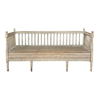 18th Century Swedish Gustavian Period Day Bed ~ Hall Bench Ca. 1790 For Sale