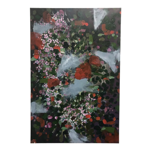 Vintage Abstract Floral Painting For Sale