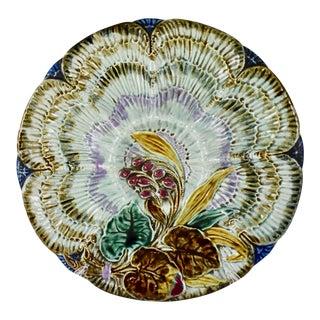 Belgian Wasmuël Earthenware Oyster Plate For Sale