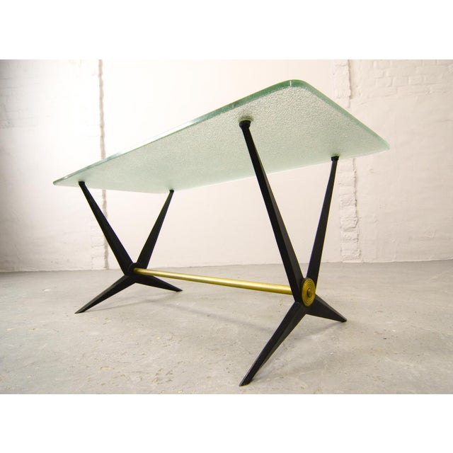 Mid-Century Italian Design Side Table Designed by Angelo Ostuni, Italy, 1950s For Sale - Image 10 of 11