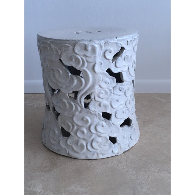 """Asian Chinese """"Cloud"""" Garden Seat For Sale - Image 3 of 11"""