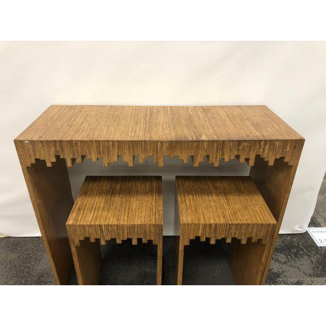 Modern Console Table and Drink Tables / Stools Set For Sale - Image 4 of 7