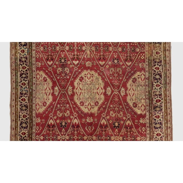 Late 19th Century Red Ground Agra Carpet - 7′9″ × 10′10″ For Sale - Image 4 of 6