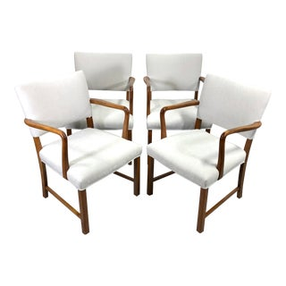 After Ole Wanscher Design Armchairs Made by j.c.a. Jensen Denmark For Sale