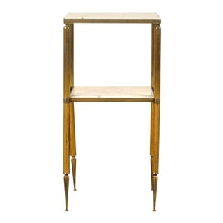 Neoclassical Brass Accent Table For Sale