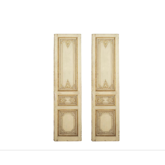 Metal Set of Eight Louis XV Style Parcel-Gilt Doors With Ormolu Finishes For Sale - Image 7 of 7