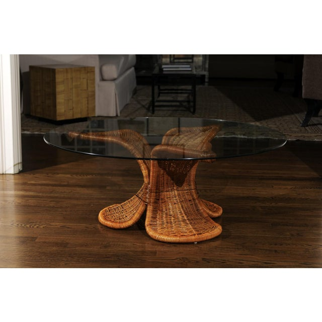 Beautiful Restored Wicker Coffee Table in the Style of Danny Ho Fong, Circa 1975 For Sale In Atlanta - Image 6 of 9