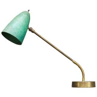 Robert Bulmore Midcentury Studio Green Fiberglass Gooseneck Desk Task Lamp For Sale