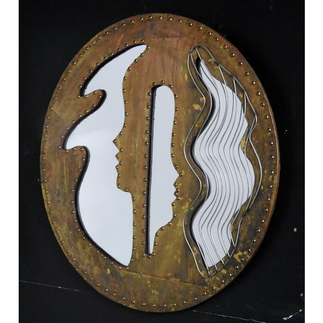 Abstract Modern Design Oval Mirror - Image 2 of 5
