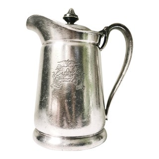 1954 Silver Plated Insulated Pitcher From the Ambassador Hotel NYC For Sale