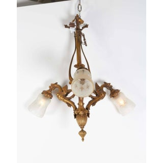 Late 19th Century Antique Gothic Style Griffin Motif Bronze Chandelier Preview