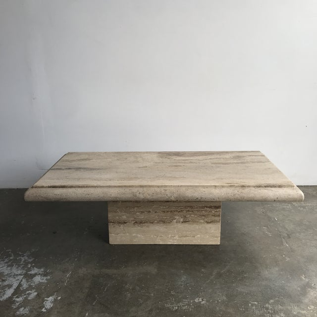 Solid Travertine Coffee Table For Sale - Image 12 of 12