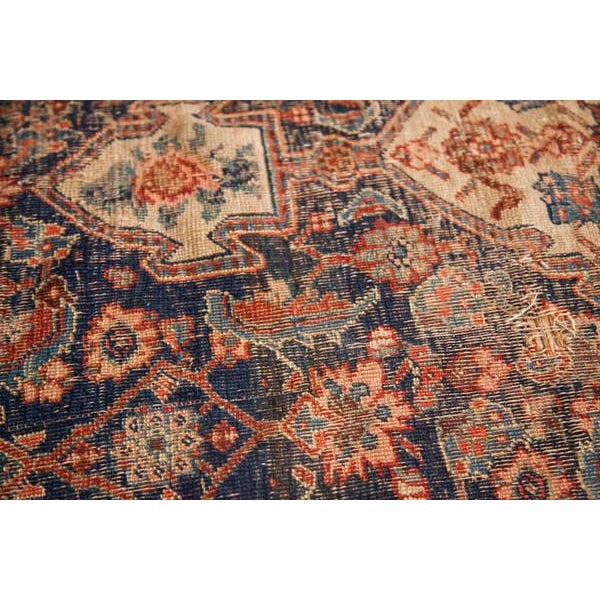 "Antique Bijar Area Rug - 5'4"" X 6'8"" - Image 6 of 10"
