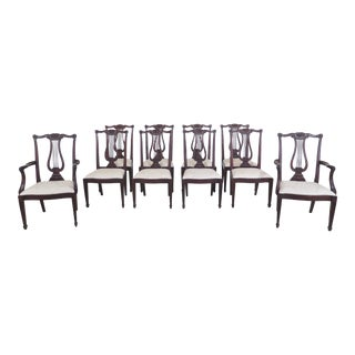 1990s Vintage Henkel Harris Model #118 Mahogany Dining Room Chairs- Set of 10 For Sale